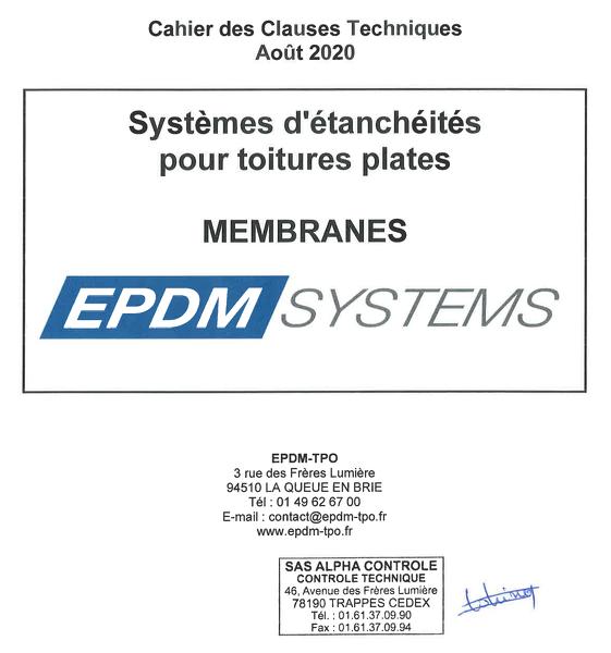 couverture du CCT EPDM SYSTEMS V2