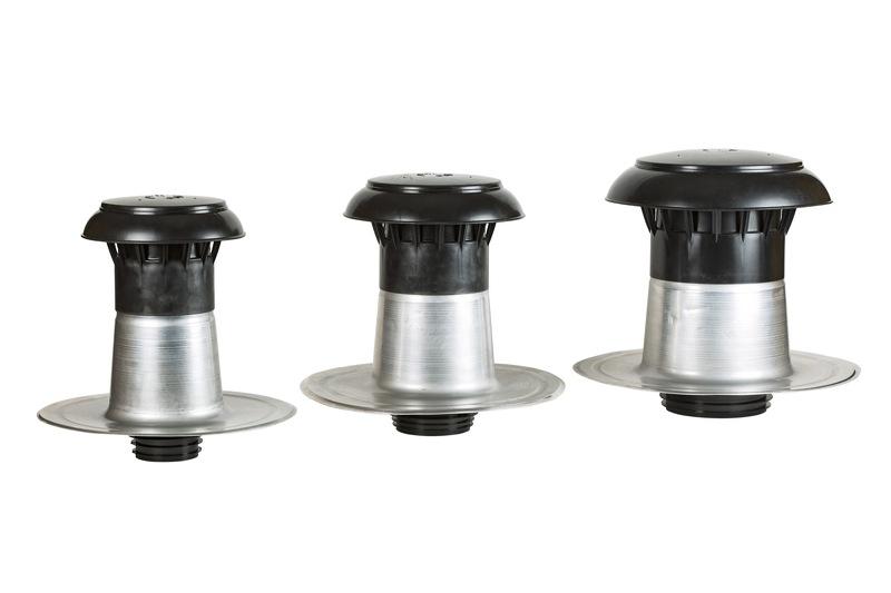 gamme de sortie de ventilation isolée pour conduits de 90 à 160 mm