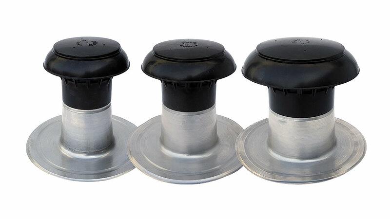 sortie de ventilation isolée en trois formats