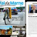 couverture et extrait du magazineVal de Marne