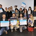 Les lauréats de l'appel à projet lors de la remise des prix.