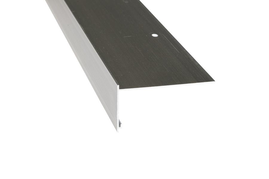 Rive 50/100 aluminium brut en longueur de 3 m
