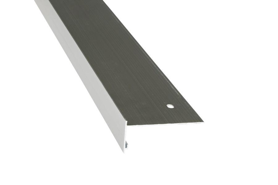Rive 30/80 aluminium brut en longueur de 3 m