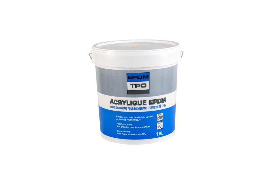 Colle Acrylique EPDM pour isolant PIR voile de verre pot de 19 Litres