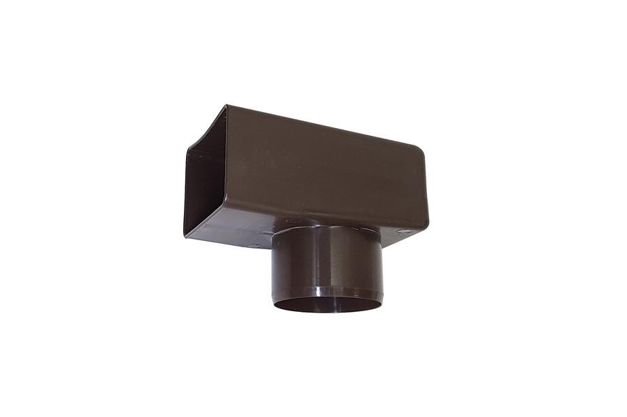 adaptateur gargouille pour sortie d'eau pluviale horizontale 60 x 100 mm