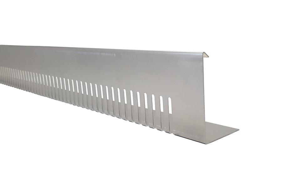 Bande pare graviers aluminium en longueur de 2 m