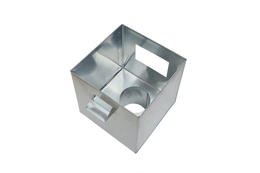 boîte à eau Zinc brut vue de dessus