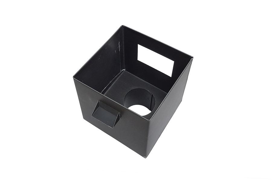 boîte à eau Zinc pré-patiné noir vue de dessus