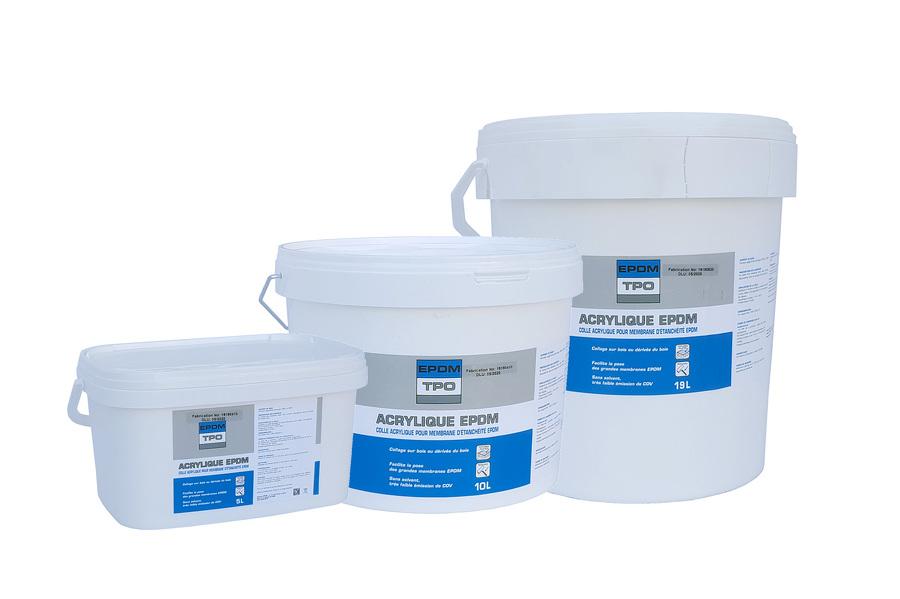 Colle Acrylique pour support bois - bidon de 5L, 10L et 19L