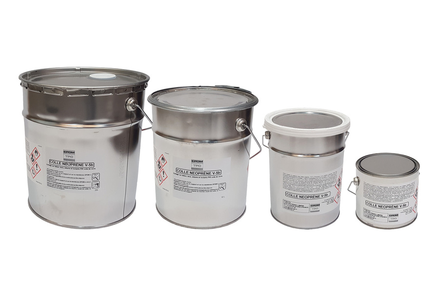 Gamme Colle Neoprène EPDM en pots de 20 / 10 / 5 / 2 Litres