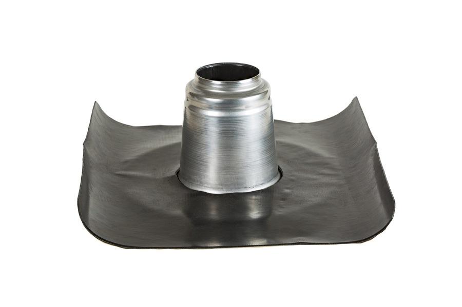 Ventilation isolée 90-100 mm démontée pour la pose de la pièce adhésive