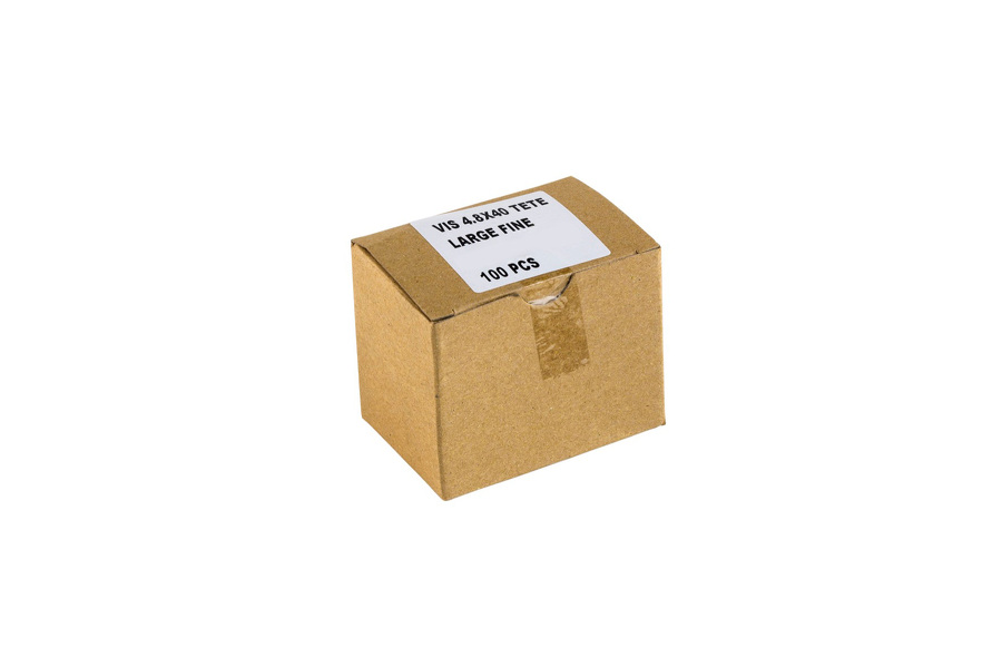 Boîte de 100 vis 4.8x40 tête large fine TK15