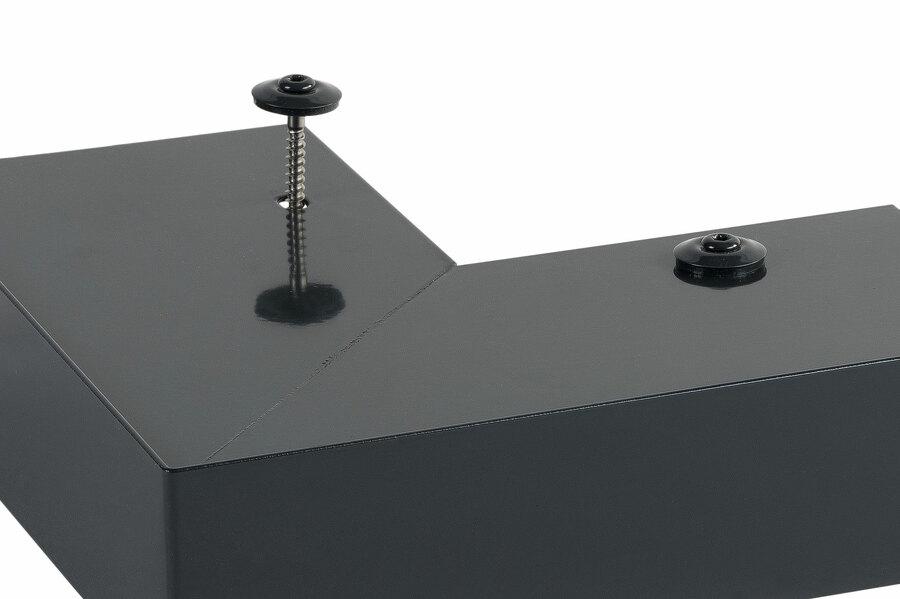 Vis embout torx TX20 avec rondelle étanche EPDM laquées (présentées sur angle sortant de rive)
